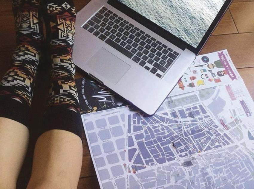Preparant una ruta amb un mapa de BCN trend map.