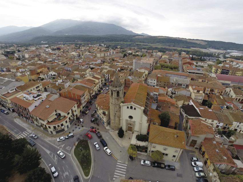 Vista aèria del nucli urbà de Santa Maria de Palautordera (Ajuntament de Santa Maria de Palautordera)