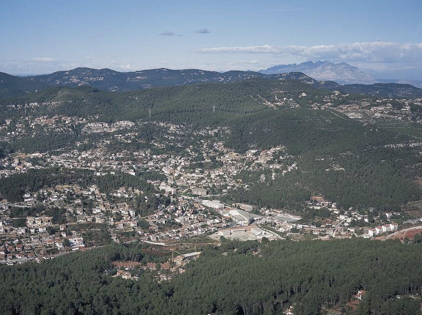 Vistas aérea del municipio de Vallirana  (Ajuntament de Vallirana)