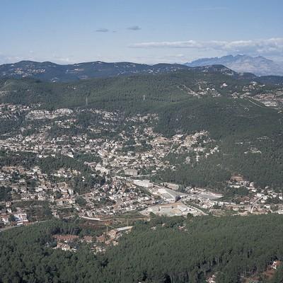 Vista aèria del municipi de Vallirana (Ajuntament de Vallirana)