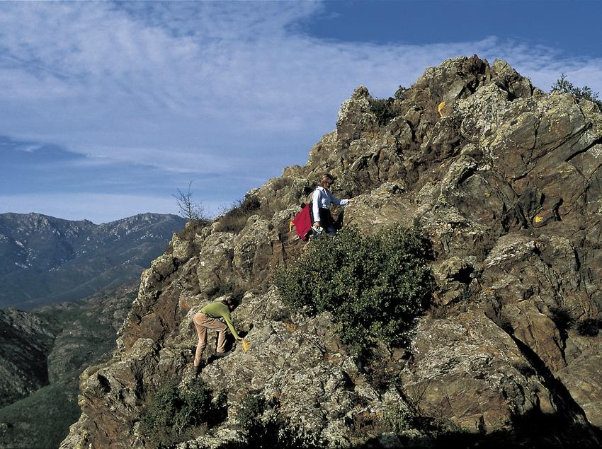 Excursionistas en la Sierra de la Albera