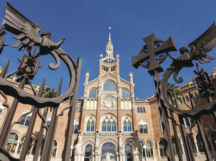 Façana de l'hospital de Sant Pau a Barcelona (Robert Ramos)