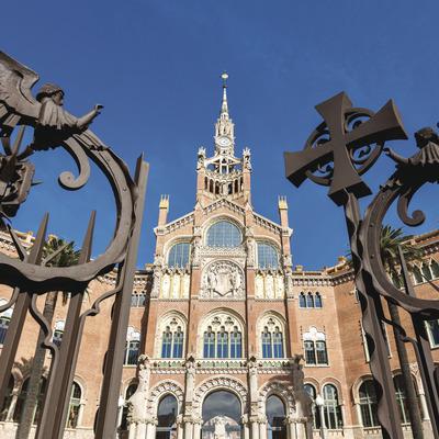 Fachada del hospital de Sant Pau en Barcelona (Robert Ramos)