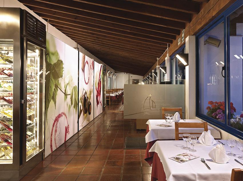 Restaurant de l'Hotel Tahití Playa.