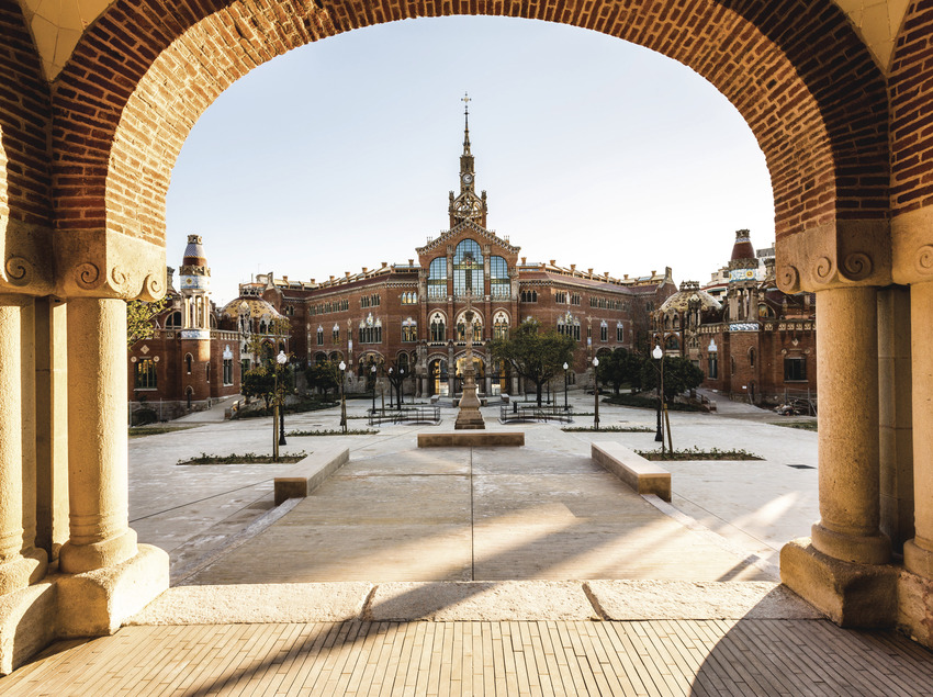 Vista general de l'hospital de Sant Pau. (Robert Ramos)