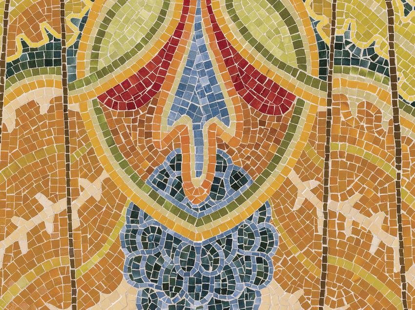 Mosaico de una de las paredes del hospital de Sant Pau (Sant Pau Recinte Modernista)