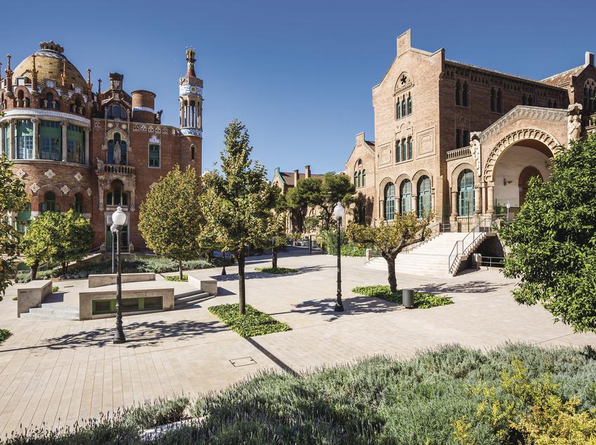 Jardins de l'hospital de Sant Pau. (Robert Ramos)