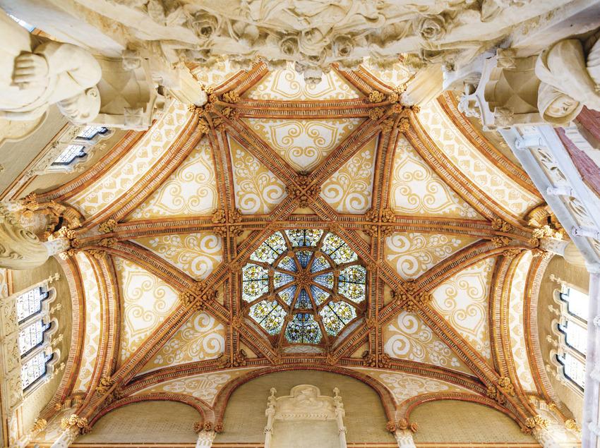 Detall del sostre d'una de les sales de l'hospital de Sant Pau. (Robert Ramos)