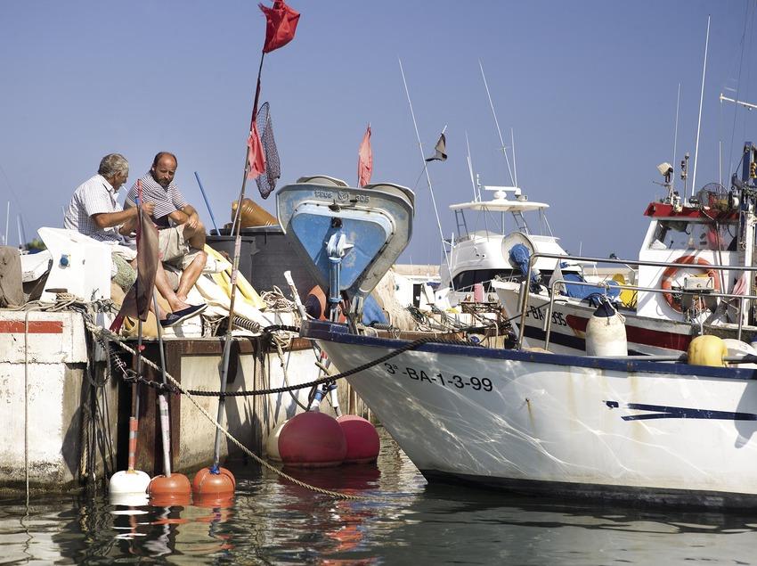 Pescadores en el puerto.  (Miguel Angel Alvarez)