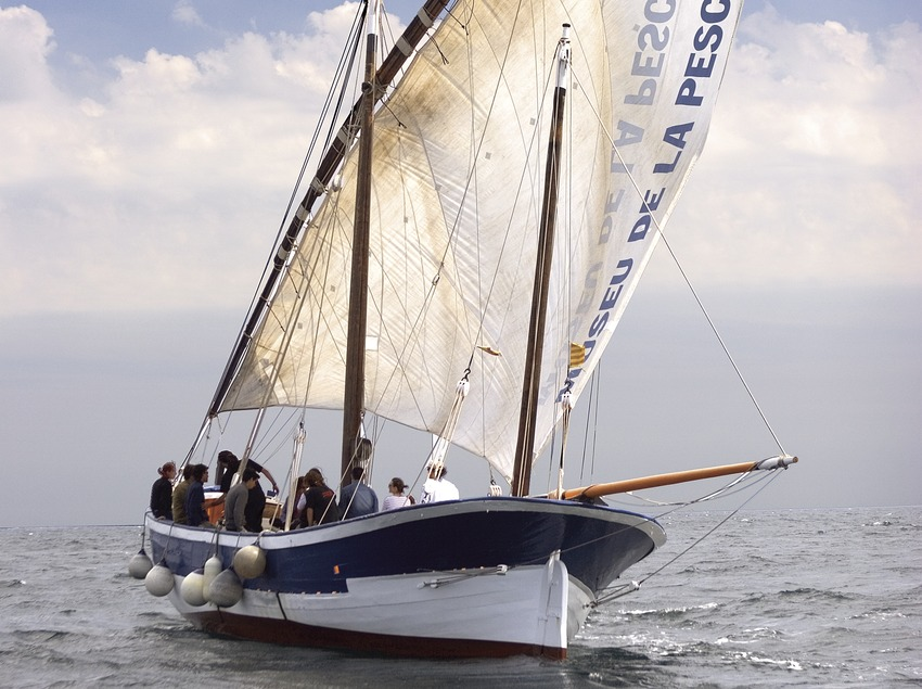 Traditional lateen sailing boat