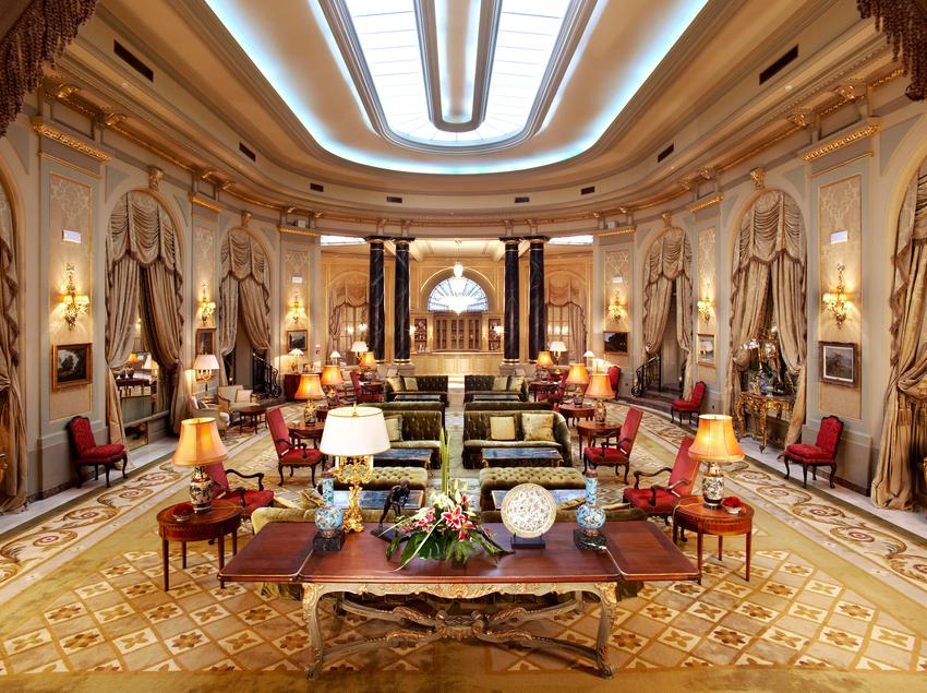 Salón del hotel El Palace, en Barcelona.