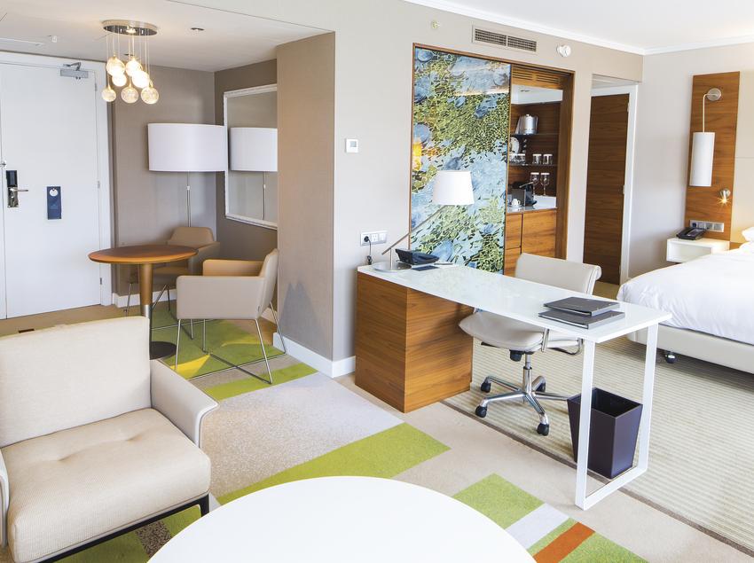 Habitació de l'hotel Hilton Barcelona.