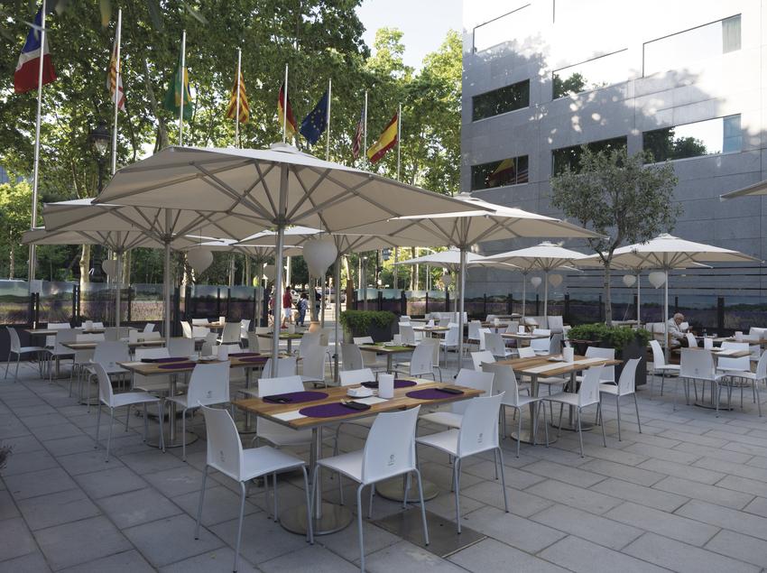 Terrassa de l'hotel Hilton Barcelona.