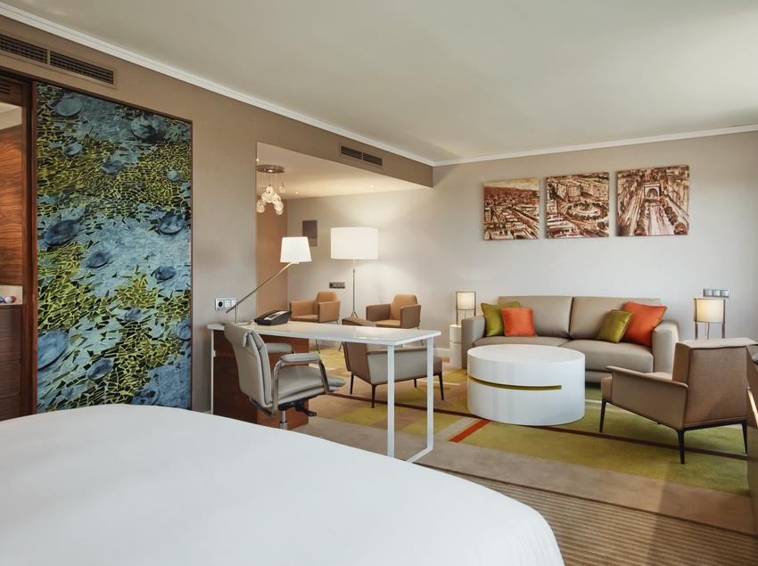 Suite del hotel Hilton Barcelona.