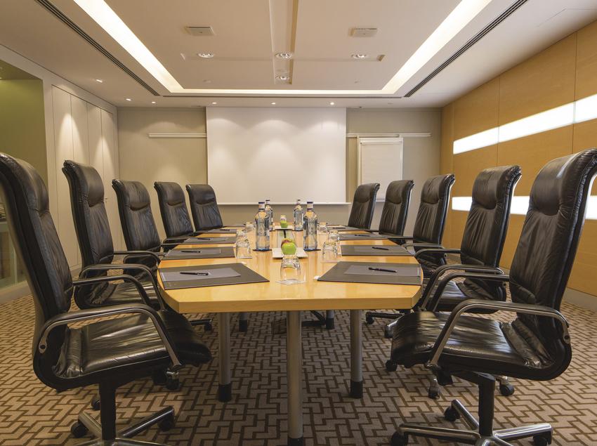 Sala de reunión en el hotel Hilton Barcelona.