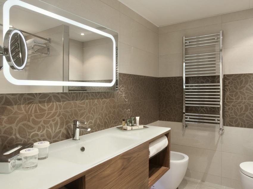 Cuarto de baño del hotel Hilton Barcelona.