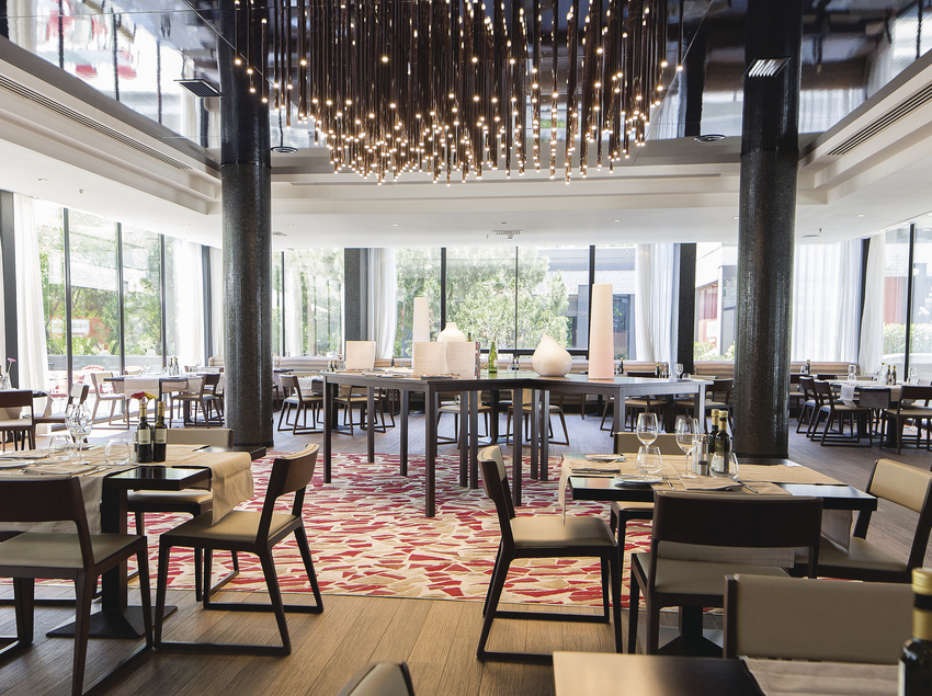Comedor del hotel Hilton Barcelona.