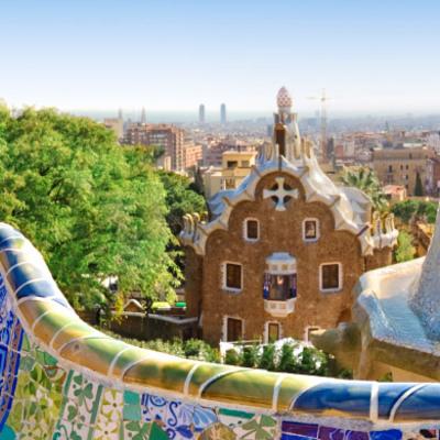 Vista de la ciutat des del Park Güell.
