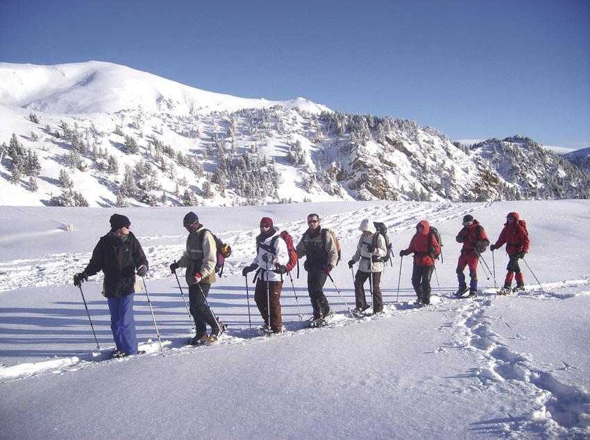 Excursió amb raquetes de neu.