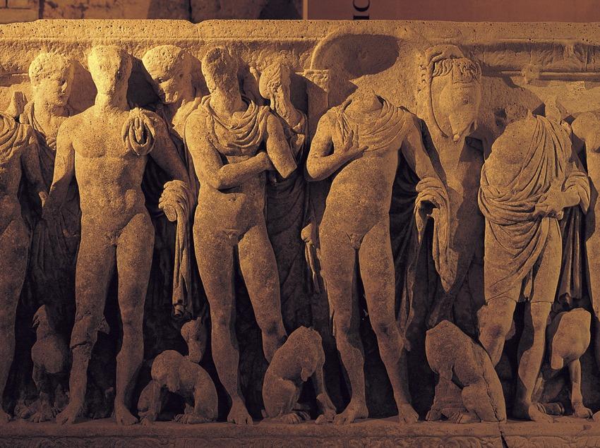 Sarcòfag d'Hipòlit de la torre del Pretori, Tarragona.