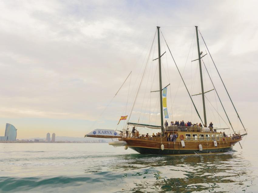 Sortida amb la Goleta Karya, un vaixell d'esdeveniments.