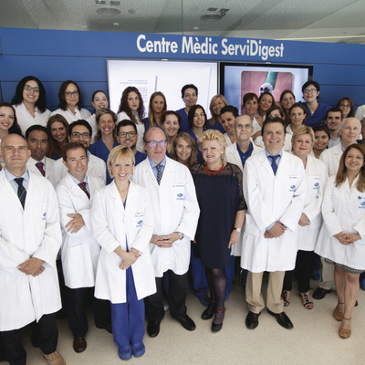 Equip de professionals del centre mèdic.