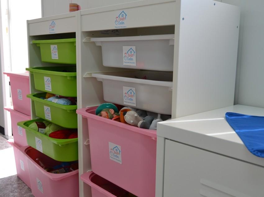 Material para niños y niñas en el Baby Center de Pineda de Mar.