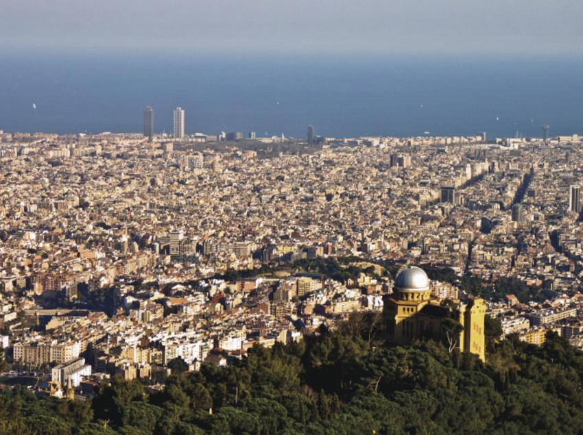 Vista de la ciudad desde Collserola.