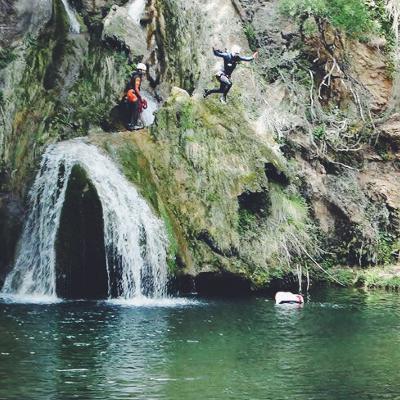 Barranquisme al riu Glorieta d'Alcover