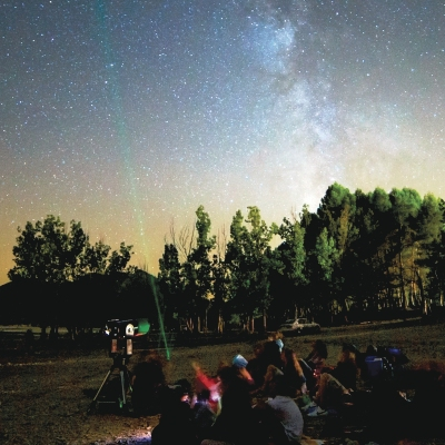 Observació astronòmica en família