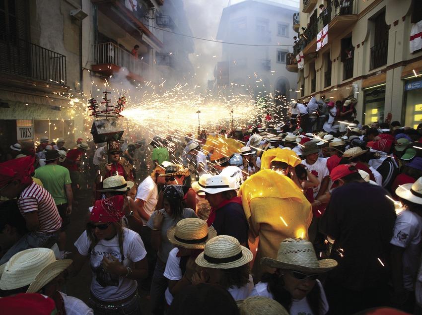 Correfoc en la Fiesta Mayor de Sitges.  (Miguel Angel Alvarez)