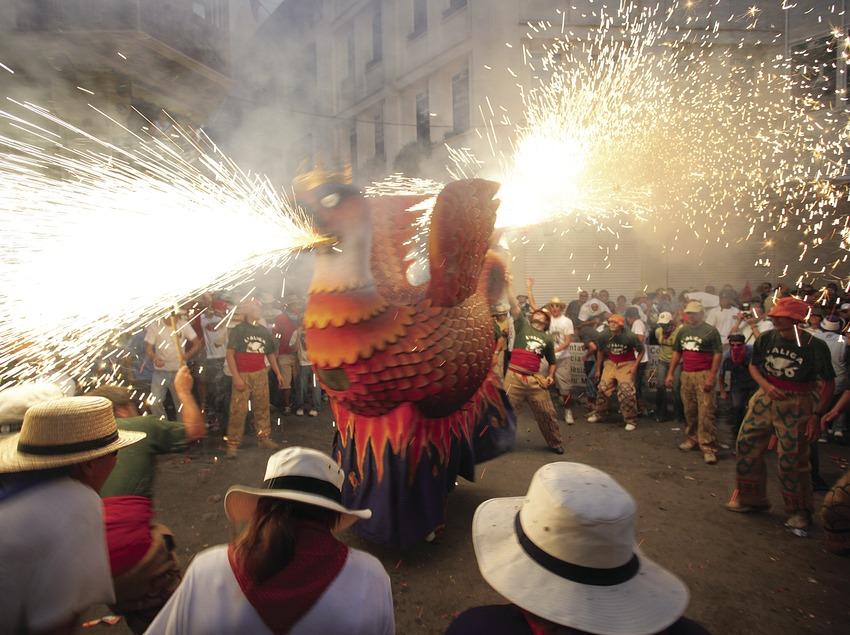Correfoc en la Fiesta Mayor de Sitges 2.