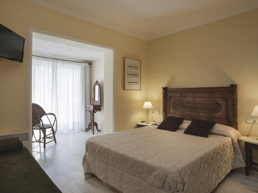 Habitació de l'hotel El Molí.