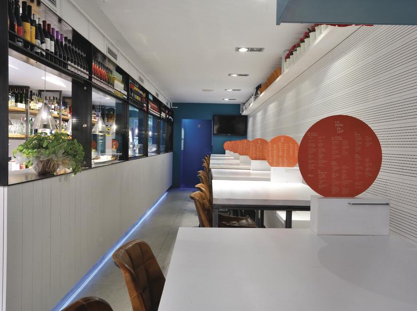 Interior del restaurante La Pepa Jaleo