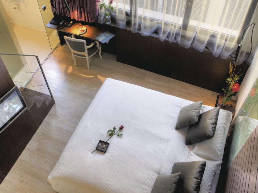 Habitació del hotel Museu Llegendes de Girona