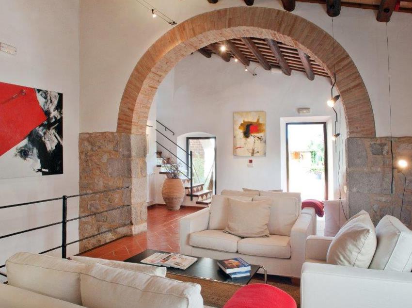 Sala d'estar del hotel Mas Falgarona