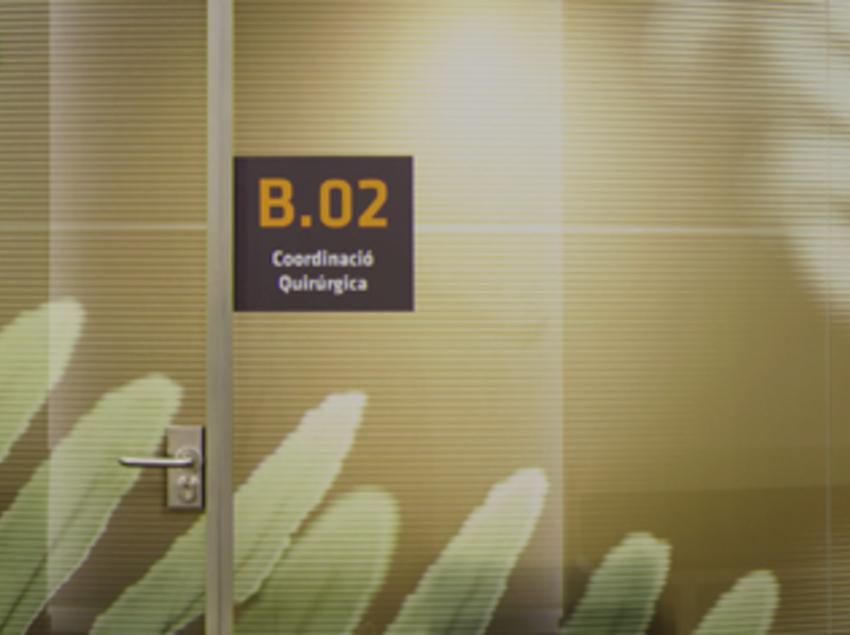 Sala del Institut Comtal d'Oftalmologia