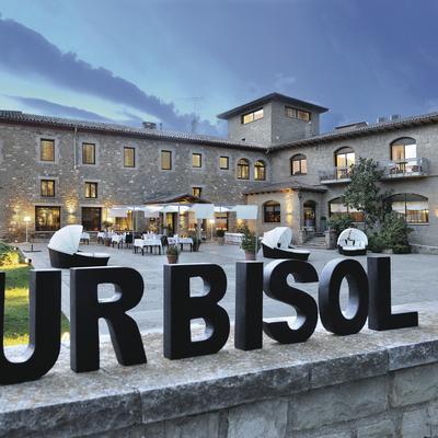 Entrada del hotel Urbisol situat a Calders