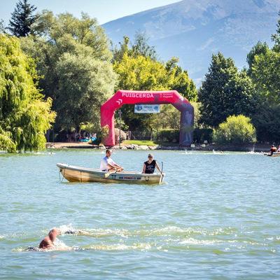 Competición en el lago de la Cerdanya