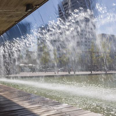Salt d'aigua del Parc de Catalunya a Sabadell