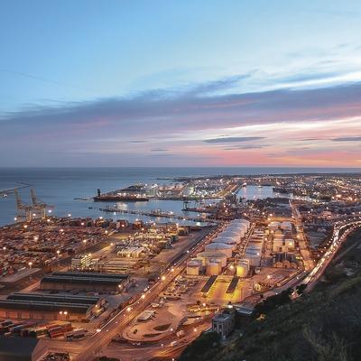 Vistes del port de Barcelona