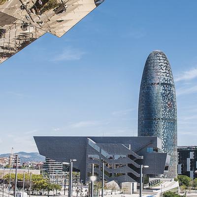 Vistas a la torre Agbar de Barcelona