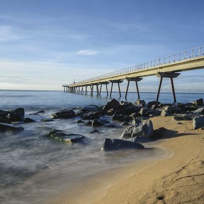 El pont del petroli a Badalona
