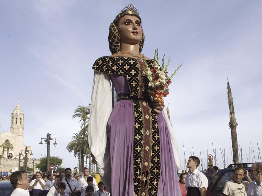 Géants à la parade de rue de Corpus.  (Oriol Llauradó)