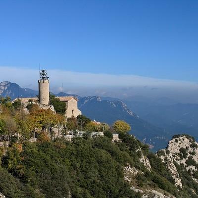Santuario de Queralt, sierra de Queralt en Berga