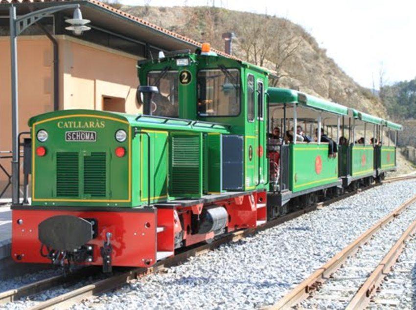 El tren del ciment en Pobla de Llillet