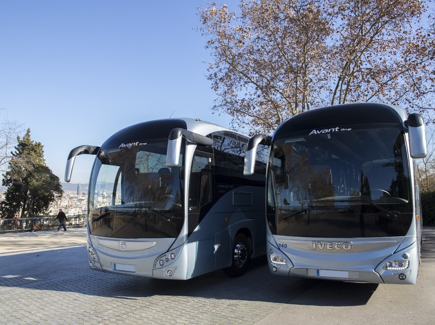 Autobús de Avant Grup a Montjuïc