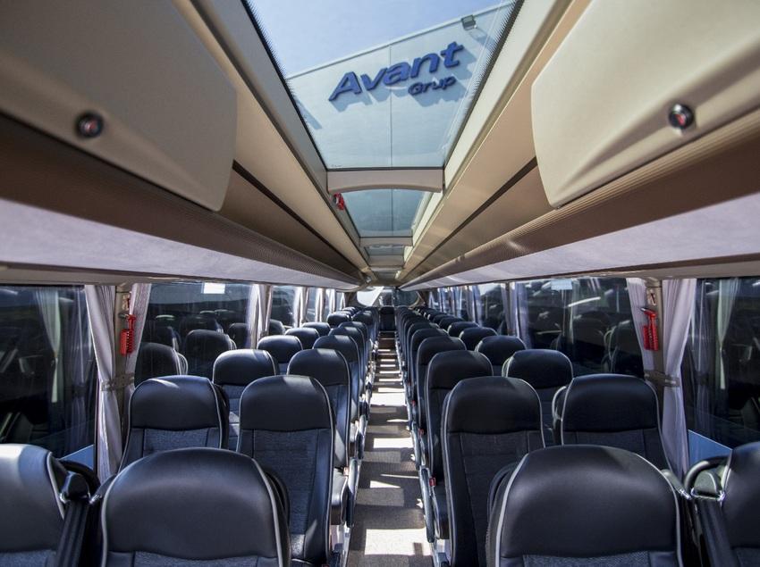 Interior de un autobús de Avant Grup
