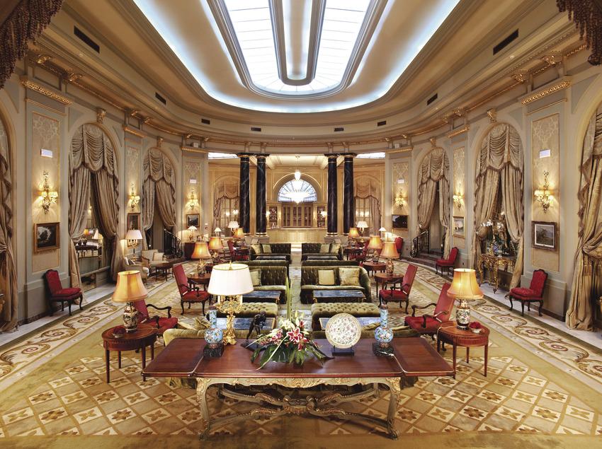 Hall del hotel Palace de Barcelona