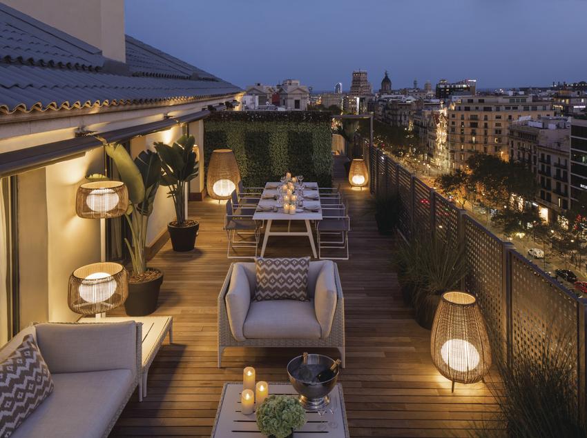 Terrassa de l'Hotel Majestic al Passeig de Gràcia